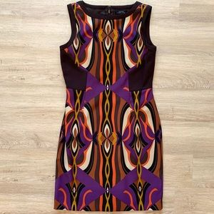 Tahari Arthur S Levine Multicolor Dress Size 6